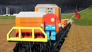 The Saddest Lego Train Stopping Video Ever in the City of Brick Rigs