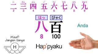 """Pelajaran bahasa Jepang 005 """"Pengucapan Angka02"""""""
