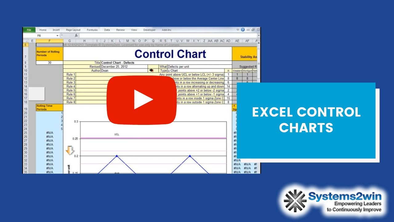 Control Chart template - YouTube