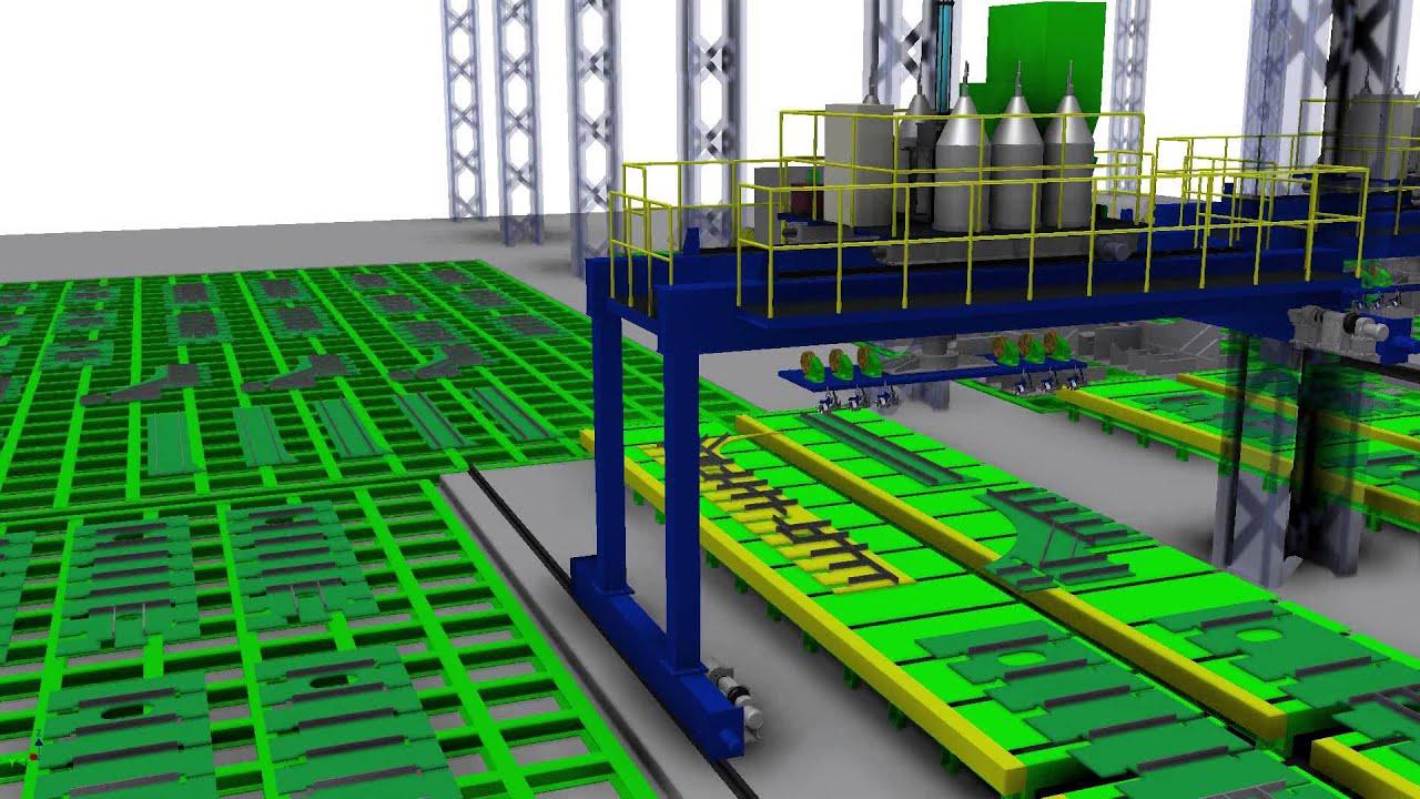 Sub Assembly Shop Shipyard Automation Shipbuilding