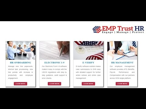 EMPTRUST HR- E Verify with the DHS - Making HR Compliance Easy