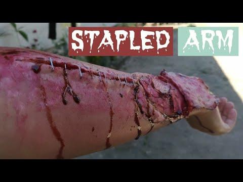 STAPLED ARM // EASY SFX HALLOWEEN MAKEUP USING TISSUE & DIY SCAR WAX // Monica Yap // Philippines