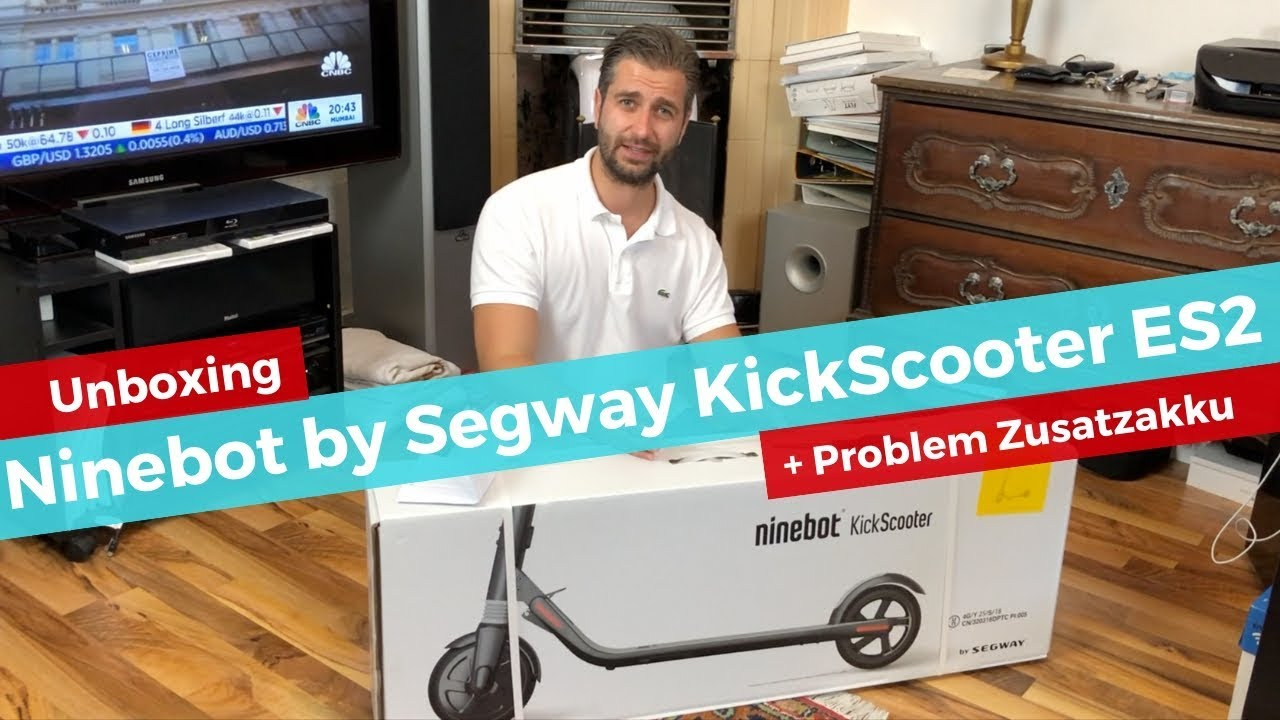 unboxing ksr ninebot by segway kickscooter es2 zusatzakku. Black Bedroom Furniture Sets. Home Design Ideas