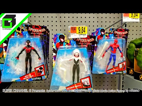 Spider-man: INTO THE SPIDER-VERSE toys Complete Set by Hasbro!