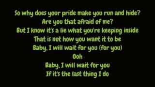 Elliott Yamin - Wait For You (Lyrics HD)