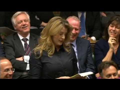 Penny Mordaunt gives the 'Loyal Address' following the Queen's Speech