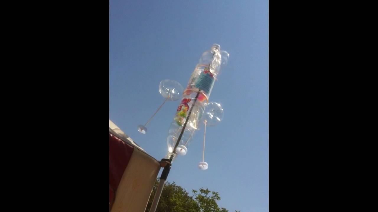 Verwonderend Windmolen van PET flessen / Windmill plastic bottles - YouTube AA-51
