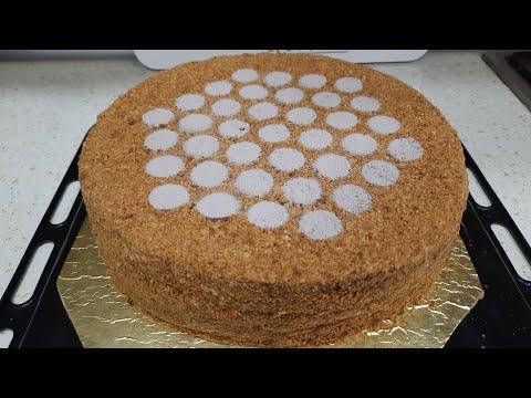 30 dəqiqədə PAMBIQ KİMİ yup-yumşaq BALLI TORT RESEPTİ. TORT MEDOVİK |MYFOODCHANNEL