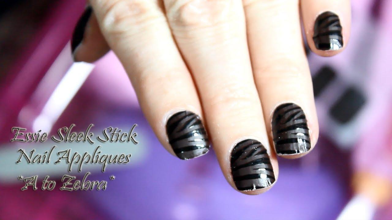 Essie Sleek Stick Nail Appliques Demo & Review - YouTube