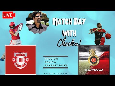 MATCHDAY LIVE   RCB VS KINGSXI PUNJAB  REVIEW, PREVIEW AND FANTASY PICKS IPL 2020 MATCH 6