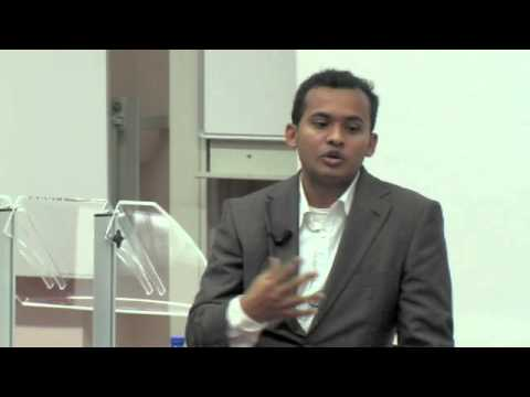 Syed Shuttari (LetsLunch) tijdens Online Startups event op Nyenrode Business Universiteit