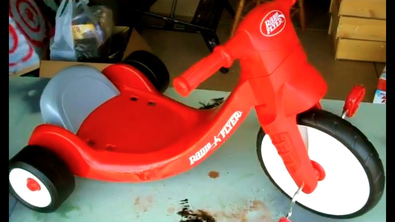 How To Assemble Radio Flyer Big Wheel Kids Tricycle Toy