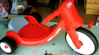 HOW TO ASSEMBLE RADIO FLYER BIG WHEEL KIDS TRICYCLE TOY PEDAL TRIKE