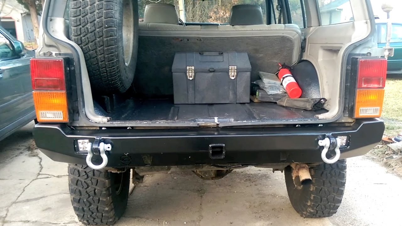Jeep Cherokee Xj Bumpers >> 89 Cherokee JCR Crusader Rear Bumper w/ LED Install - YouTube