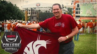 Washington State's Ol' Crimson flag and its college football legacy   College GameDay