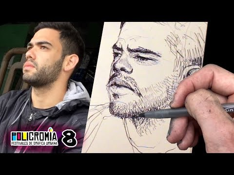DRAWING LIVE PORTRAITS - Sketchbook Tour (EP08)