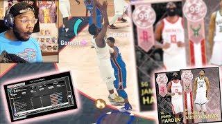 GOD SQUAD vs GOD SQUAD! 99 OVR Giannis + Harden! SMOTHERED BUZZER BEATER 3!! NBA 2k18 MyTeam Ep. 10