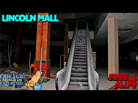 Exploring the Abandoned Lincoln Mall (AT NIGHT!!)