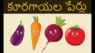 VEGETABLES NAMES IN TELUGU | Names of the vegetables in telugu and english | t & h - all in one