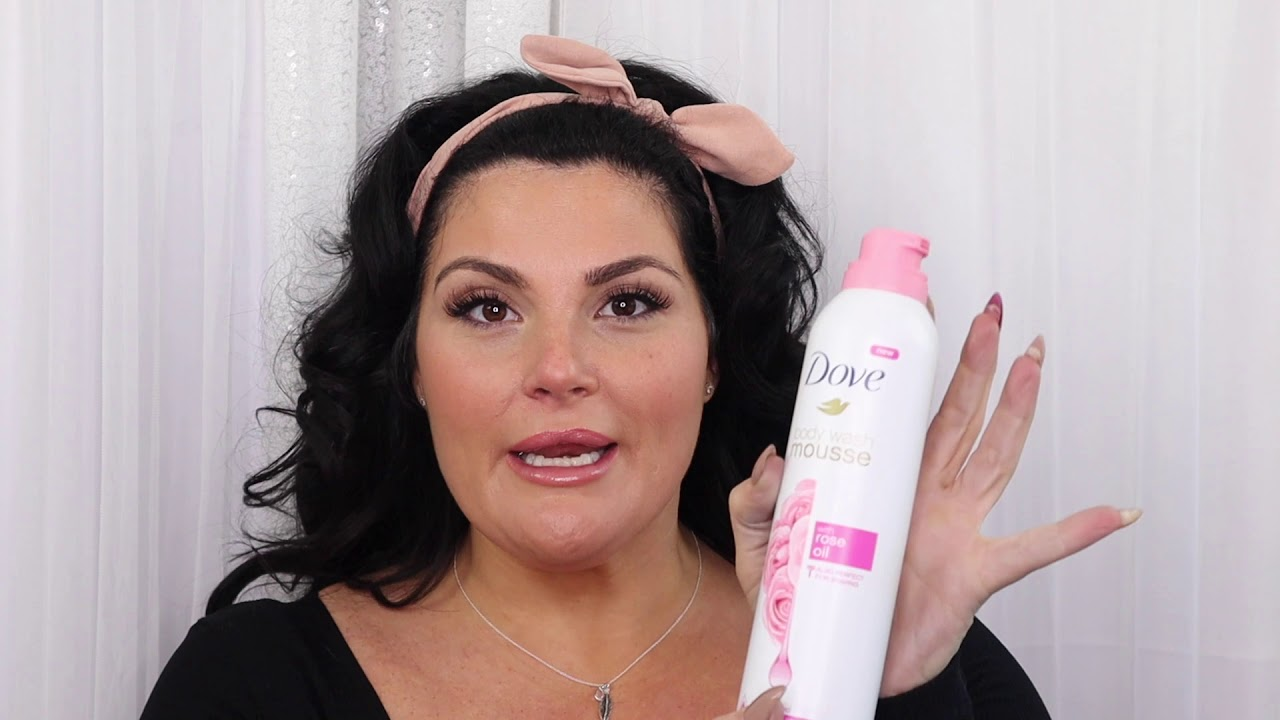 Dove Body Wash Mousse With Rose Oil Review Youtube