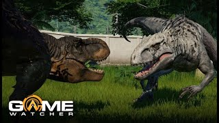 Jurassic World Evolution EXCLUSIVE GAMEPLAY - with T-Rex!