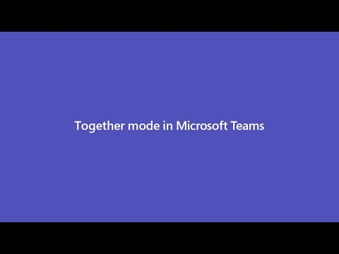 Together mode in Microsoft Teams