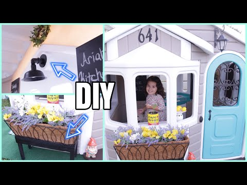 Playhouse Makeover DIY Accessories