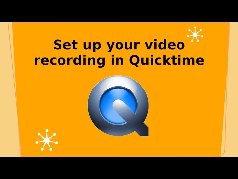 Webcam Setup and capture tips using Quicktime Player for Mac