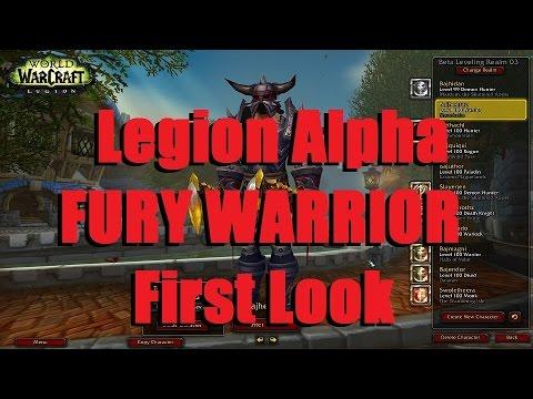 Bajheera - FURY WARRIOR Legion First Look - Artifact Quests, Class Hall, & Gameplay! :D