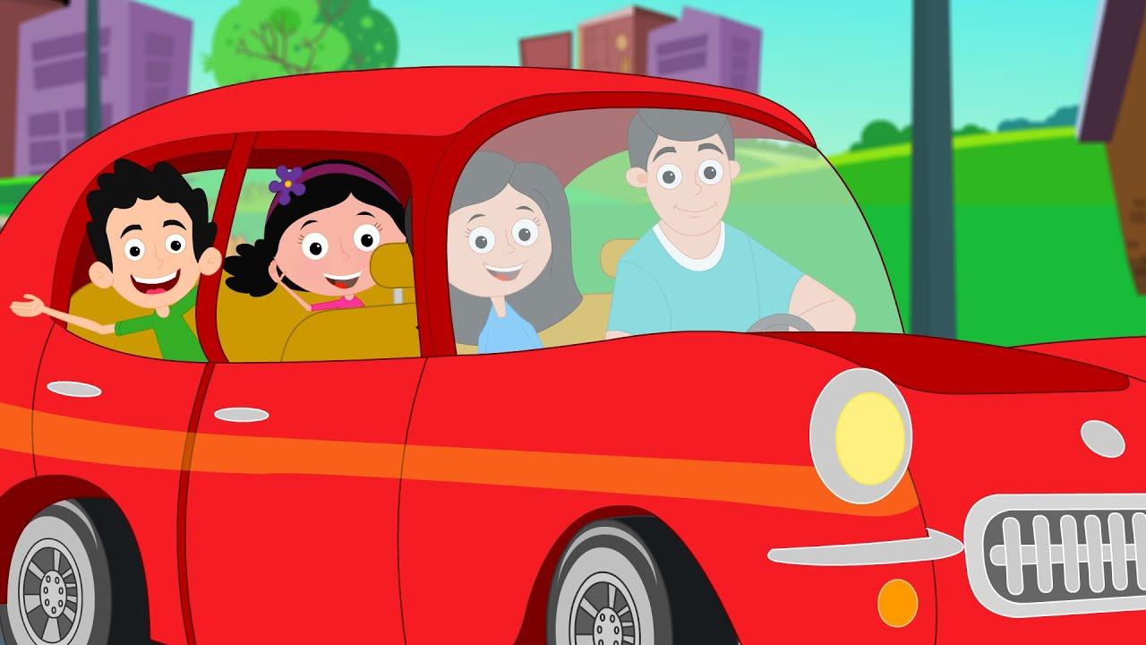 daddys red car nursery rhymes for kids