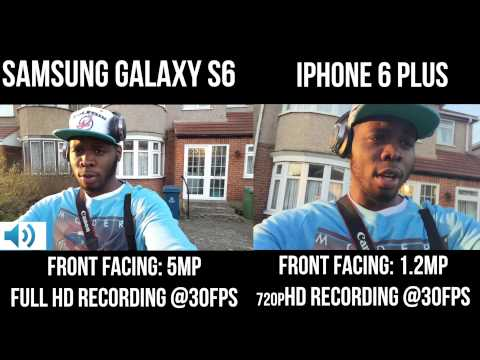 Samsung Galaxy S6 vs iPhone 6 Plus : Front Facing Camera