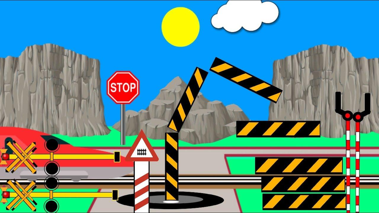 Download Palang pintu kereta api keluar dari lubang- Palang perlintasan kereta api panjang railroad crossing