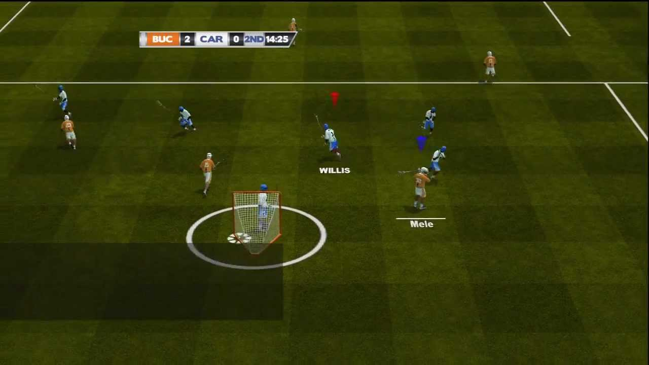 College Lacrosse 2012 Updated Gameplay Lacrosse Video