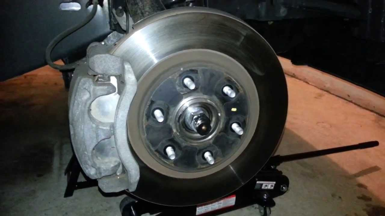 2012 nissan armada front brake caliper bracket rotor about to replace pads youtube