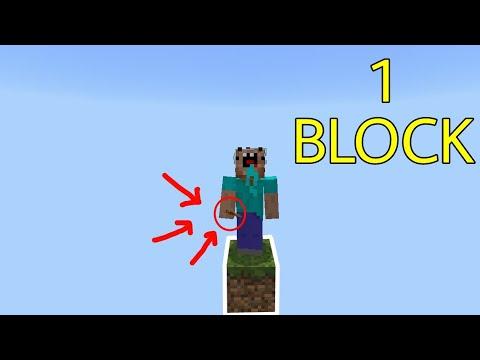 Thử Thách Sinh Tồn Chỉ Với 1 Block !!! – Skeleton Cực Hiếm !!! | Minecraft PE