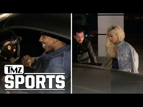 Nick Young -- Date Night with Hot Blonde ... Like My Ferrari???