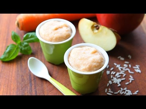 Chicken rice apple baby food recipe