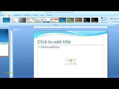 how to work with powerpoint themes for dummies youtube