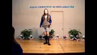 Colegio Citlalli. Ariadne M. Rentería Alatorre. Ganadora del XXXVI Concurso de Declamación.MPG