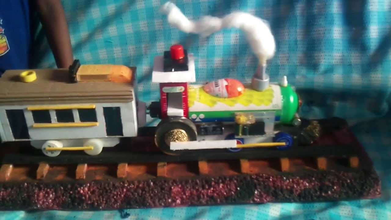 Best out of waste train 1 youtube for Make project using waste materials