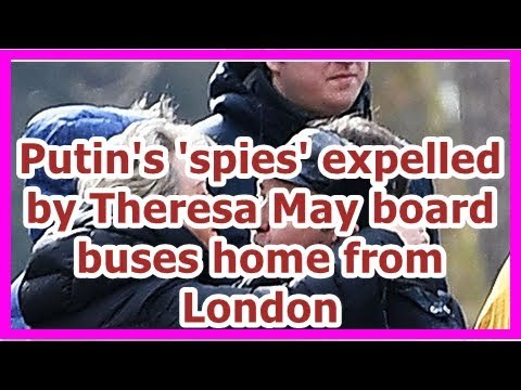 24h News - Putin's 'spies' expelled by Theresa May board buses home from London
