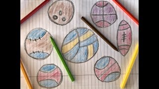 Coloring Balls | Painting for toddlers and Drawing for Kids | Kuro Relaxation