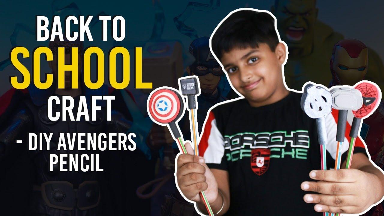 How to Make Avenger Pencil Topper   Best DIY Pencil Topper   Simplest Avenger Craft Idea for Kids