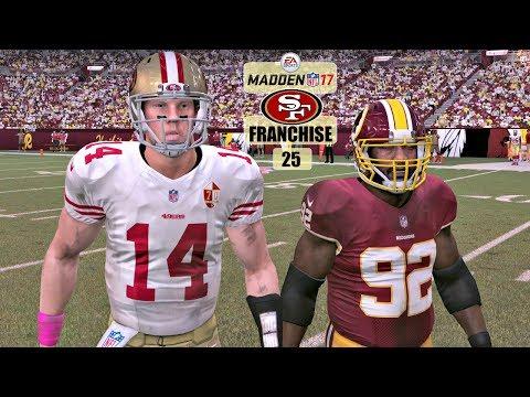 Madden NFL 17 San Francisco 49ers Franchise - EP25 (Year 2, Week 8 vs Redskins)