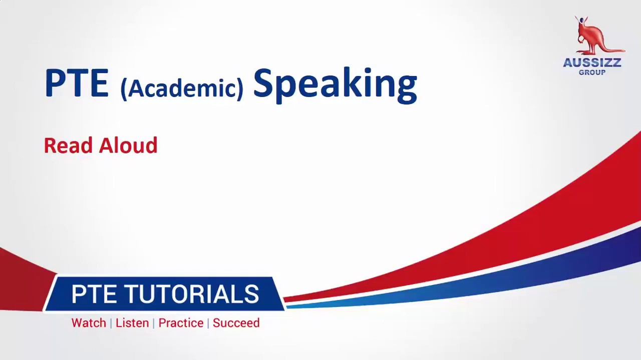 PTE-A Speaking Test: Overview of 'Read Aloud' Question Type