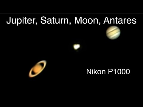 Two Planets, A Star, And A Moon - Nikon P1000 Camera