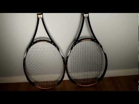 Side By Side Comparison Of A Pro Stock And Retail Tennis Racket
