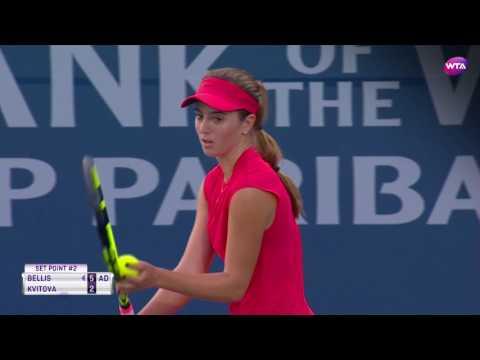 2017 Bank of the West Classic Quarterfinals | CiCi Bellis vs Petra Kvitova | WTA Highlights