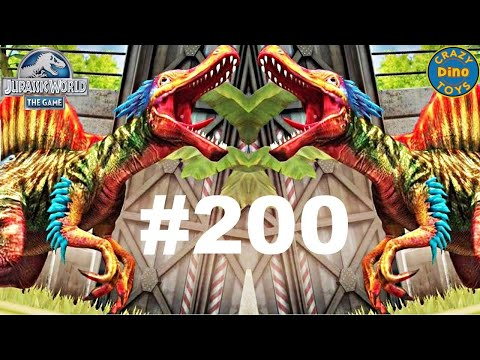 Jurassic World - The Game Episode 200 SPINORAPTOR LVL 40 Gorgosaurus Tournament Dinosaurs