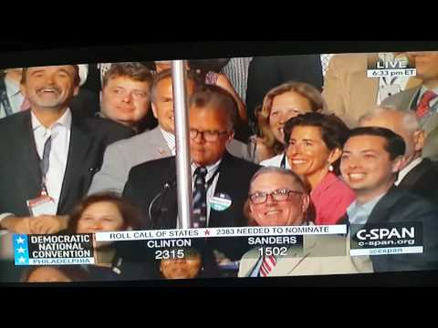 Rhode Island Roll Call at DNC